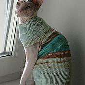 Зоотовары handmade. Livemaster - original item Cotton sweater for cat/cat (color is different). Handmade.