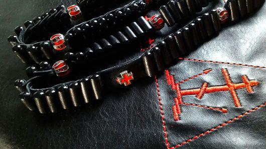 Подарки для мужчин, ручной работы. Ярмарка Мастеров - ручная работа. Купить Четки кожаные Лестовка на 100 ступеней. Handmade. Четки