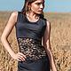 Платья ручной работы. Ярмарка Мастеров - ручная работа. Купить Маленькое черное платье с кружевной вставкой. Handmade. Черный, платье