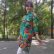 """Одежда ручной работы. Ярмарка Мастеров - ручная работа Платье-рубашка """" Краски лета"""". Handmade."""