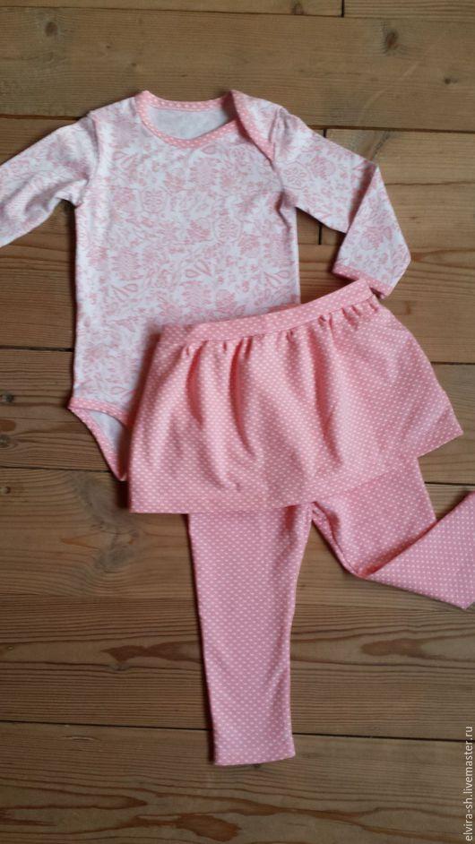 Одежда для девочек, ручной работы. Ярмарка Мастеров - ручная работа. Купить Комплект для девочки. Handmade. Розовый, лосины, интерлок