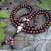 Фен-шуй и эзотерика handmade. Livemaster - original item Buddhist beads of a bull`s-eye and jade 108 beads, the node Mahakala. Handmade.