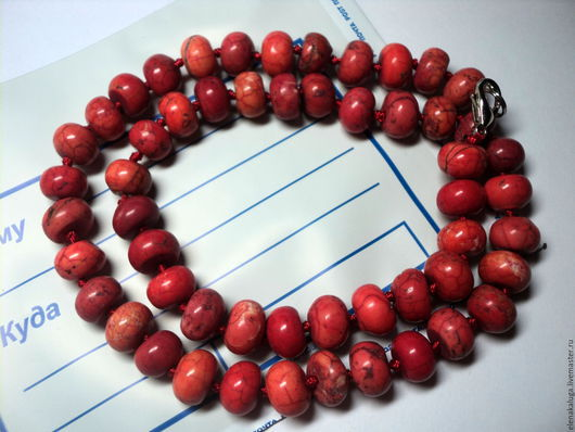 Для украшений ручной работы. Ярмарка Мастеров - ручная работа. Купить Агат под коралл (оранжевый). Handmade. Рыжий, агат