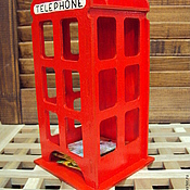 """Для дома и интерьера ручной работы. Ярмарка Мастеров - ручная работа Чайный домик """"Английская телефонная будка"""". Handmade."""