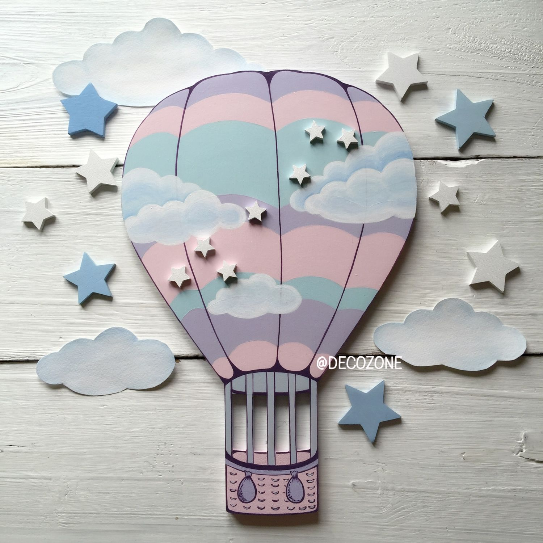 воздушный шар на открытке своими так