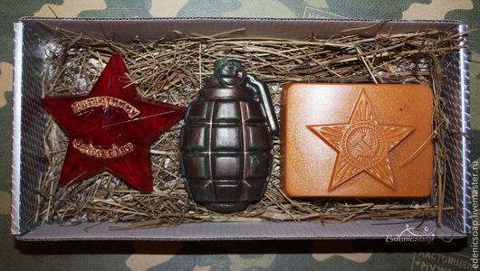 Подарочный набор мыла для мужчин. Подарки к 23 февраля.Edenicsoap.