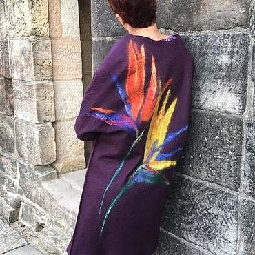 """Одежда ручной работы. Ярмарка Мастеров - ручная работа Пальто """"Burgundy"""". Handmade."""