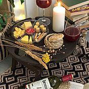 Столы ручной работы. Ярмарка Мастеров - ручная работа Складной винный столик «венге». Handmade.