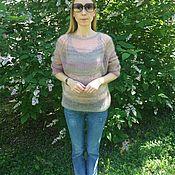 Одежда ручной работы. Ярмарка Мастеров - ручная работа Пуловер из итальянского мохера с шёлком. Handmade.