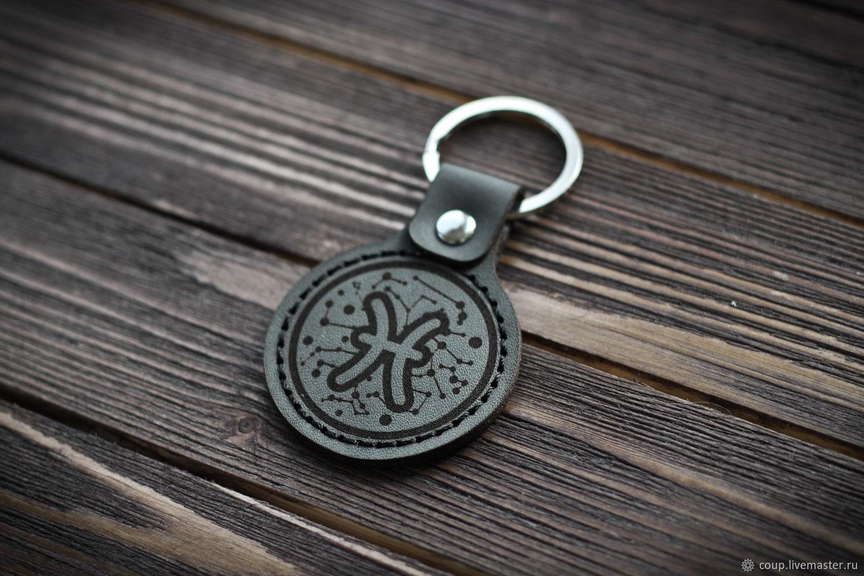 Кожаный брелок для ключей, Брелок, Волжский,  Фото №1