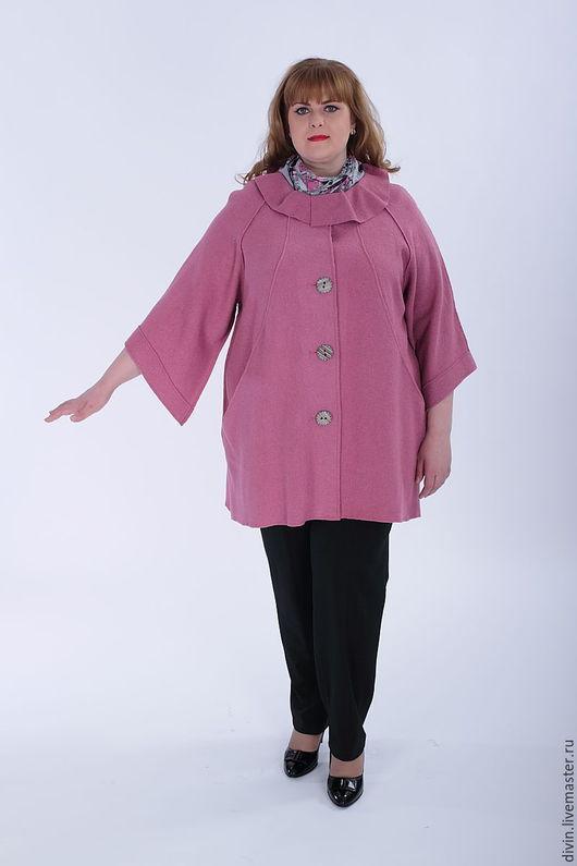 Верхняя одежда ручной работы. Ярмарка Мастеров - ручная работа. Купить Пальто женское большого размера. Handmade. Женское пальто