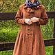 Верхняя одежда ручной работы. Ярмарка Мастеров - ручная работа. Купить Рыжее пальто в стиле бохо на теплую осень. Handmade.
