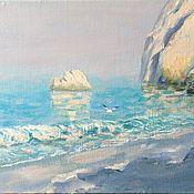 Картины и панно handmade. Livemaster - original item Oil painting Morning seascape oil. Handmade.