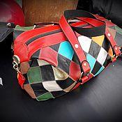 Классическая сумка ручной работы. Ярмарка Мастеров - ручная работа Сумка из кусочков кожи. Handmade.