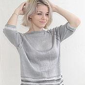 Одежда handmade. Livemaster - original item Sweater knitting viscose womens oversized Raglan jumper. Handmade.
