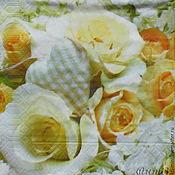 Материалы для творчества handmade. Livemaster - original item 9pcs napkin for decoupage bouquet for a young lady. Handmade.