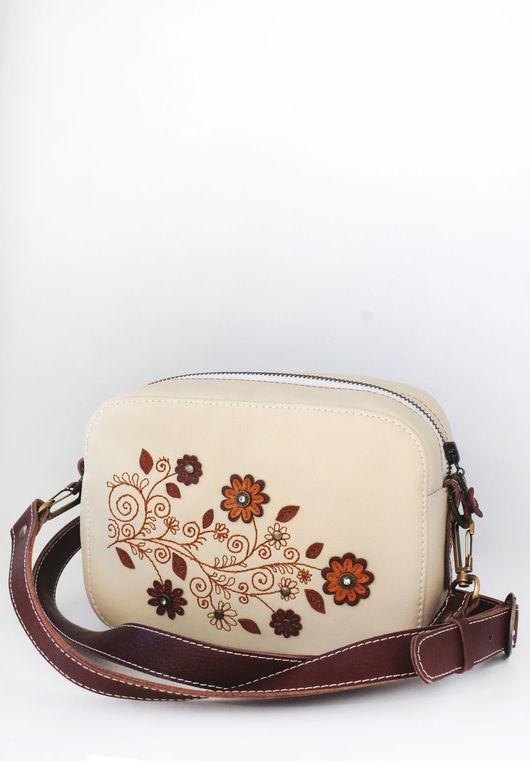 """Женские сумки ручной работы. Ярмарка Мастеров - ручная работа. Купить Сумочка для прогулок """"Flowers"""". Handmade. Рисунок, небольшая сумочка"""