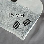 Фурнитура для шитья ручной работы. Ярмарка Мастеров - ручная работа Регулятор для бретели черный металл 18 мм. Handmade.