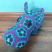 Куклы и игрушки ручной работы. Ярмарка Мастеров - ручная работа Бегемотик Жора!  Связан из африканских мотивов. Handmade.