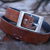 Аксессуары handmade. Livemaster - original item Women`s leather Belt. Handmade.