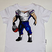 Работы для детей, handmade. Livemaster - original item Children`s t-Shirt with painting