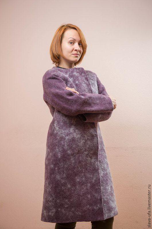 Верхняя одежда ручной работы. Ярмарка Мастеров - ручная работа. Купить Пальто Мэри. Handmade. Васильковый, пальто женское
