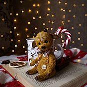 Мишки Тедди ручной работы. Ярмарка Мастеров - ручная работа Тедди олень,помощник Санты. Handmade.