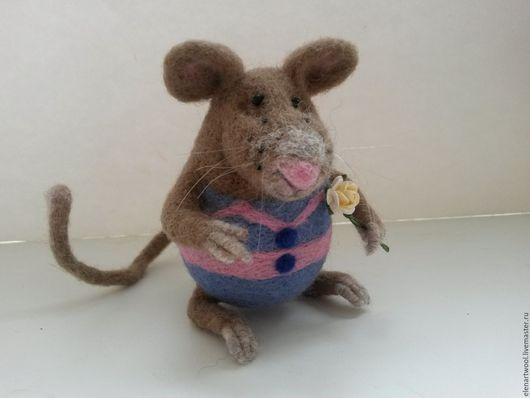 Игрушки животные, ручной работы. Ярмарка Мастеров - ручная работа. Купить валяная игрушка Крысёныш. Handmade. Серый, крыска, кардочёс