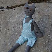 Куклы и игрушки ручной работы. Ярмарка Мастеров - ручная работа серый кот Самуэль. Handmade.