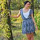 Платья ручной работы. Ярмарка Мастеров - ручная работа. Купить Летнее платье из шифона с подкладкой. Handmade. Платье, короткое платье