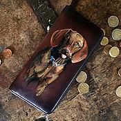 Сумки и аксессуары handmade. Livemaster - original item Custom pet portrait zip around long women hand painted coin purse, Per. Handmade.