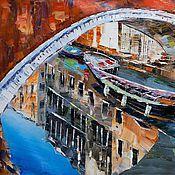 """Картины и панно ручной работы. Ярмарка Мастеров - ручная работа Картина маслом """"Венецианские отражения"""". Handmade."""