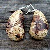 Украшения handmade. Livemaster - original item Earrings made of birch burl. Handmade.