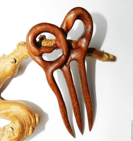 """Заколки ручной работы. Ярмарка Мастеров - ручная работа. Купить Заколка для волос из дерева """"Бордо"""" (мербау). Handmade. Заколка из дерева"""