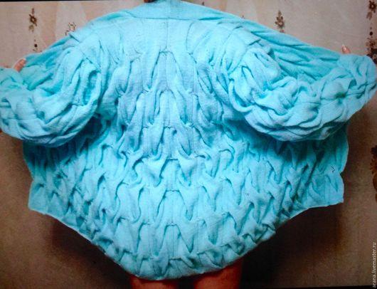 Кофты и свитера ручной работы. Ярмарка Мастеров - ручная работа. Купить Кофта Кардиган из акрила бирюзового цвета. Handmade. Бирюзовый