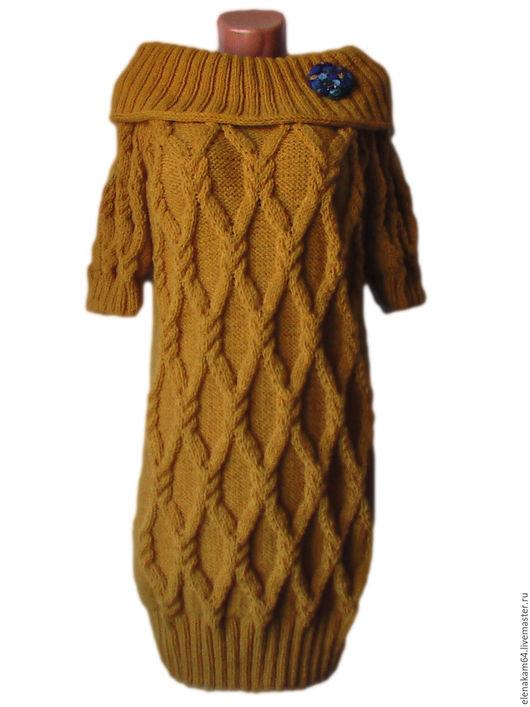 Платья ручной работы. Ярмарка Мастеров - ручная работа. Купить платье вязаное. Handmade. Платье, платье с воротником, стильное платье