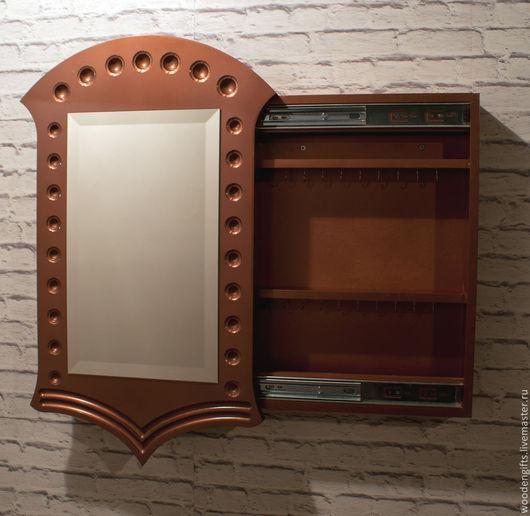 """Зеркала ручной работы. Ярмарка Мастеров - ручная работа. Купить """"Медное"""" зеркало в стиле модерн. Handmade. Медь, зеркала, для украшений"""