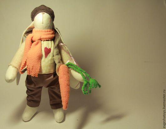 Куклы Тильды ручной работы. Ярмарка Мастеров - ручная работа. Купить Зайка Марк. Handmade. Игрушка ручной работы, зайка