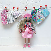 Куклы и игрушки handmade. Livemaster - original item Textile doll with clothes set. Handmade.