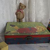 Для дома и интерьера ручной работы. Ярмарка Мастеров - ручная работа Шкатулка большая Teddy. Handmade.