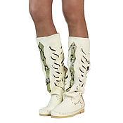 Обувь ручной работы handmade. Livemaster - original item Summer boots with inlays of Python INDIANINI DOC. Handmade.