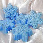 Косметика ручной работы. Ярмарка Мастеров - ручная работа Мыло снежинка голубая. Handmade.