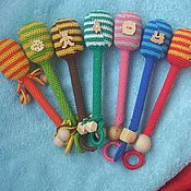Куклы и игрушки ручной работы. Ярмарка Мастеров - ручная работа Погремушки на палочках. Handmade.