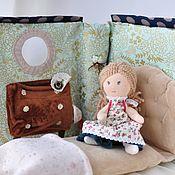 Мебель для кукол ручной работы. Ярмарка Мастеров - ручная работа Куколка и ее спальная комната. Handmade.