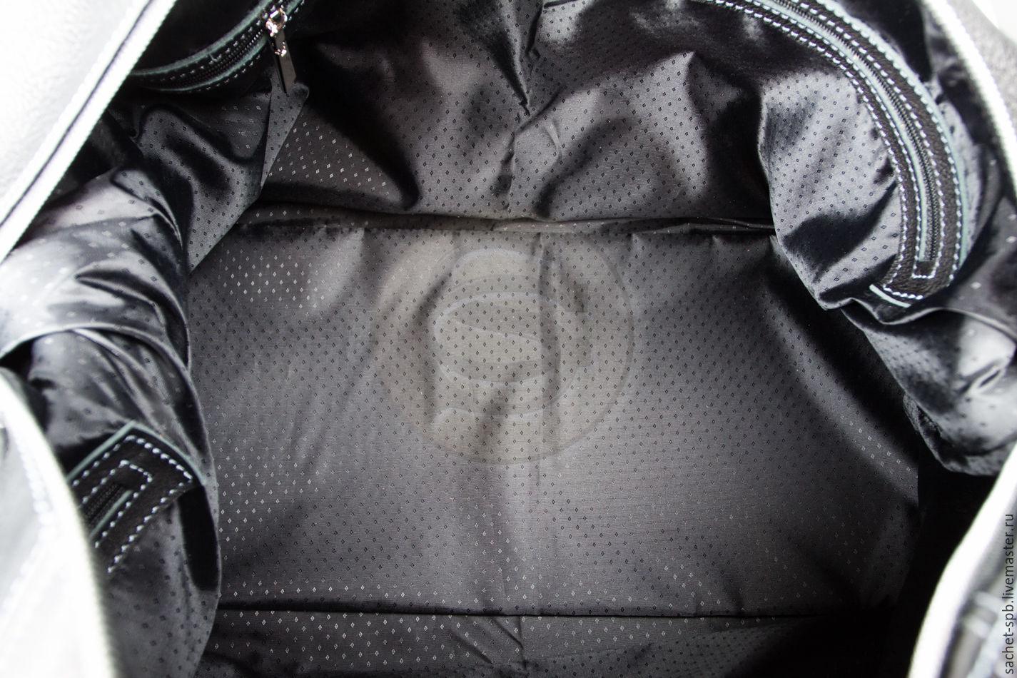 eeeb04263fc1 Кожинка-САШЕ (sachet Мужские сумки ручной работы. Кожаная дорожная сумка  черная.