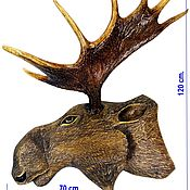 Для дома и интерьера handmade. Livemaster - original item Elk antler medallion head of elk, handmade. Handmade.
