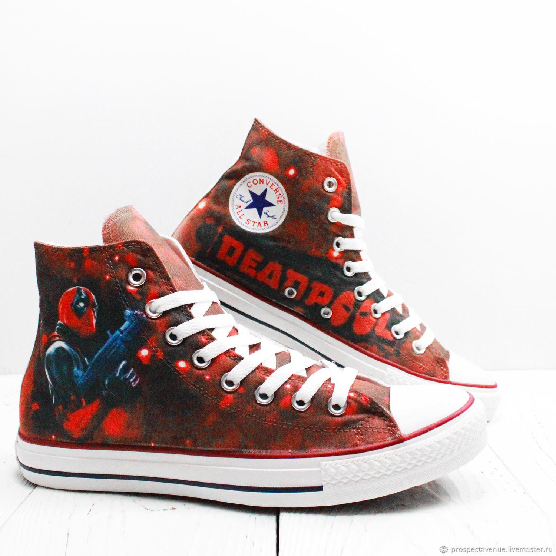1c4955a3aa09 Обувь ручной работы. Ярмарка Мастеров - ручная работа. Купить Высокие кеды  Converse