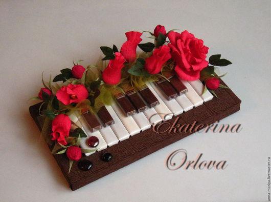 Букеты ручной работы. Ярмарка Мастеров - ручная работа. Купить Музыканту... (букет из конфет (крас.)). Handmade. Пианино, учителю
