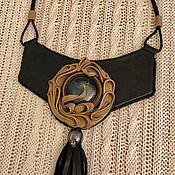 handmade. Livemaster - original item Necklace LANGUID EVENING (Leather). Handmade.