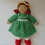 Мягкие игрушки ручной работы. Ярмарка Мастеров - ручная работа Вязаная Кукла мисс Эмели. Handmade.